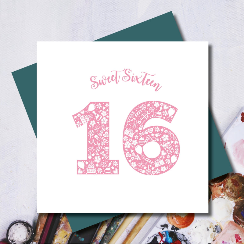 Daisy 16th Sweet Sixteen Birthday Greeting Card
