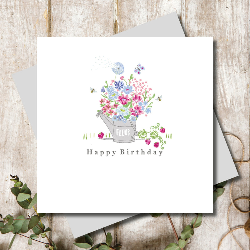 Garden Love Happy Birthday Blooms Greeting Card