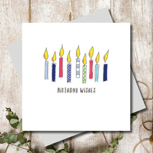 Birthday Candle Wishes Greeting Card