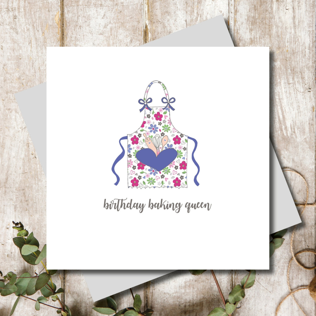 Baking Queen Birthday Greeting Card