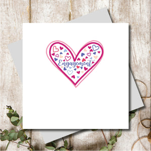 Engagement Ditsy Greeting Card
