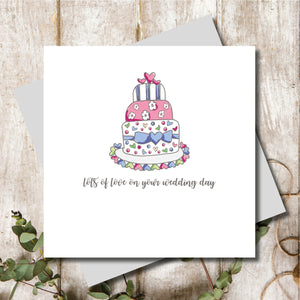 Wedding Cake Love Greeting Card