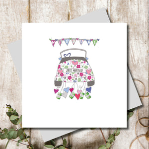 Just Married Wedding Car Greeting Card