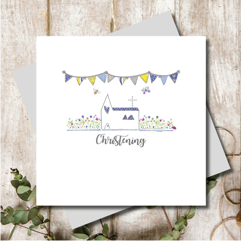 Boy Christening Church Greeting Card