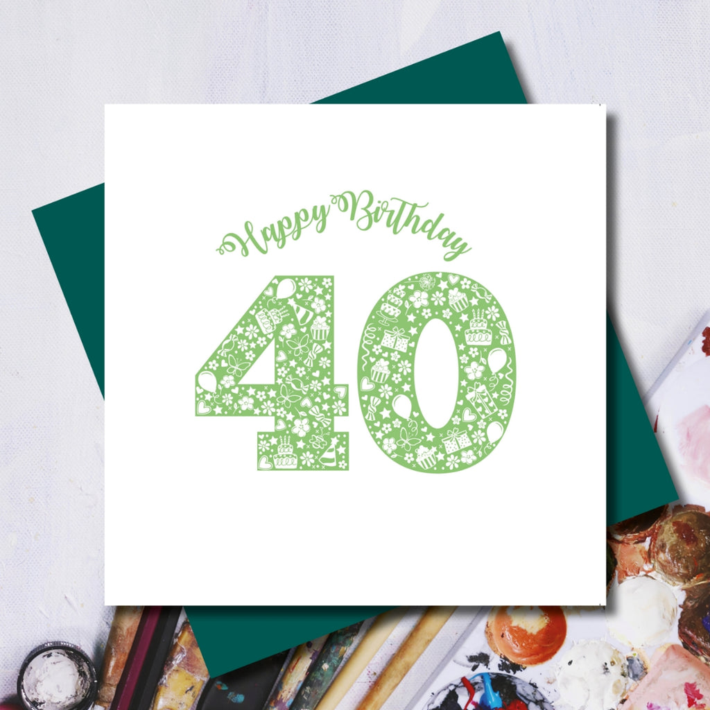 Daisy 40th Happy Birthday Greeting Card