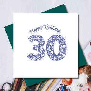 Daisy 30th Birthday Greeting Card