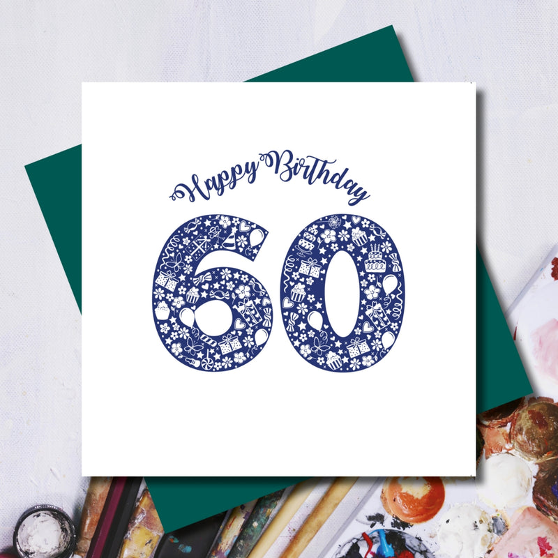 Daisy 60th Happy Birthday Greeting Card