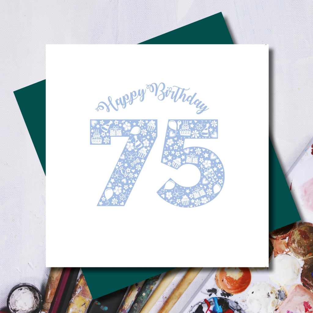 Daisy 75th Happy Birthday Greeting Card