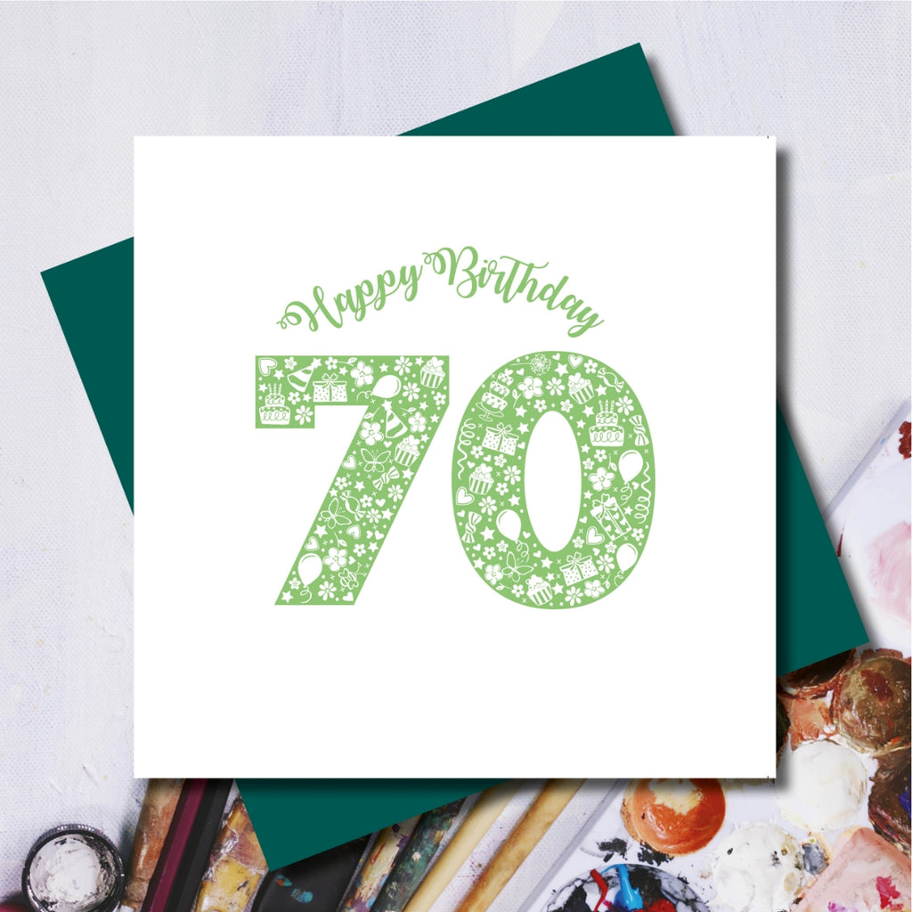 Daisy 70th Happy Birthday Greeting Card
