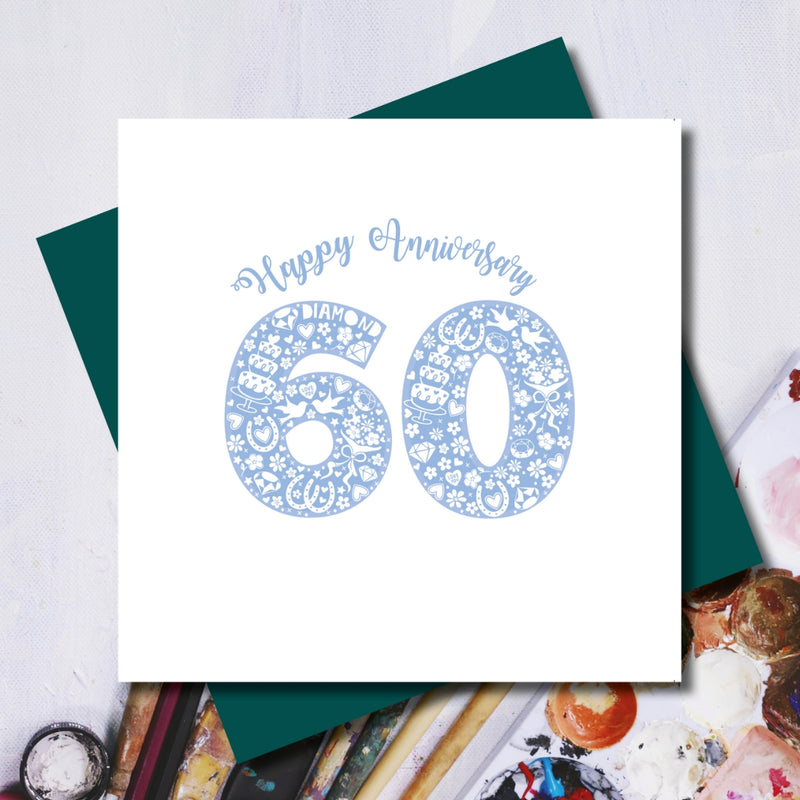 Diamond 60th Wedding Anniversary Greeting Card