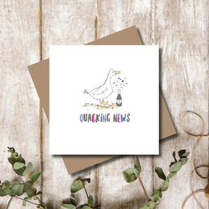 Quacking News Congratulations Greeting Card