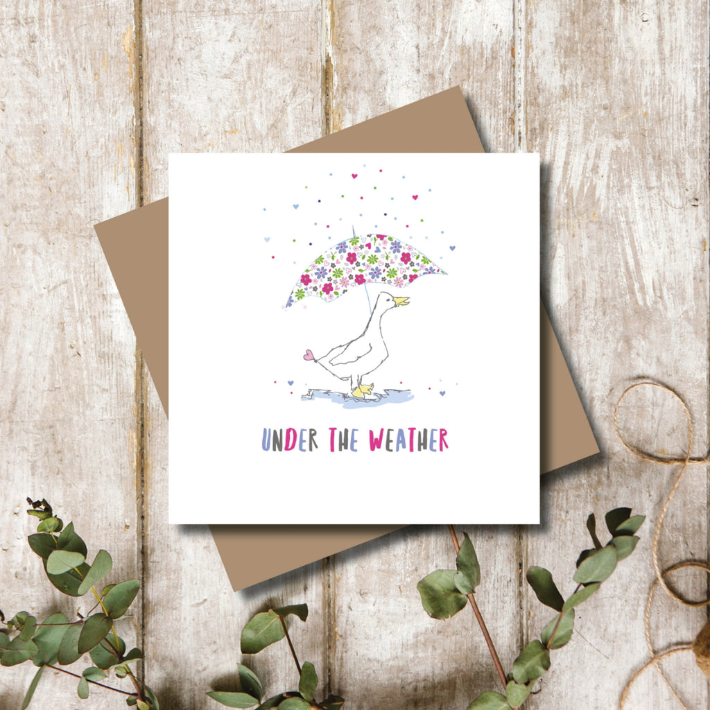 Duck Get Well Soon Greeting Card