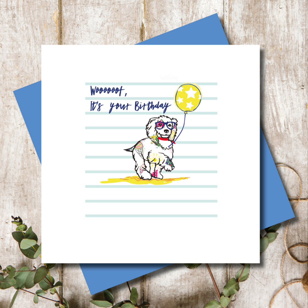 Coker Spaniel Dog Happy Birthday Greeting Card