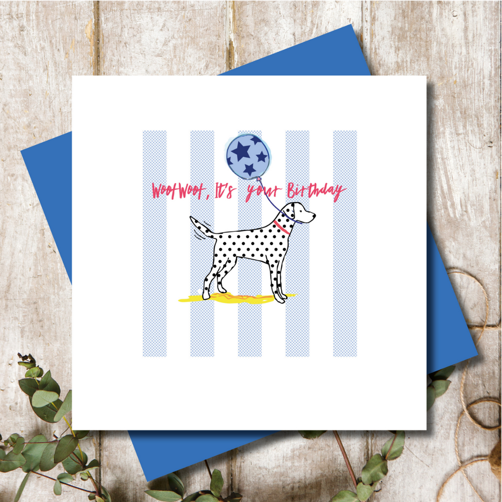 Dalmatian Dog Happy Birthday Greeting Card