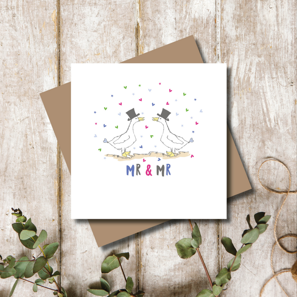 Quacking Mr and Mr Wedding Greeting Card