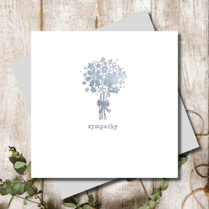 Sympathy Bunch of Flowers Greeting Card