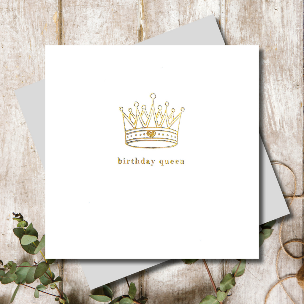 Birthday Queen Greeting Card