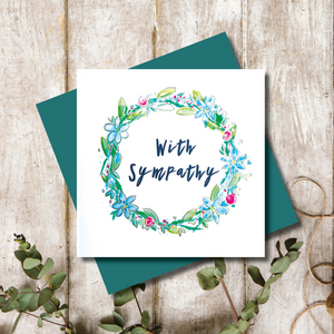 Sympathy Wreath Greeting Card