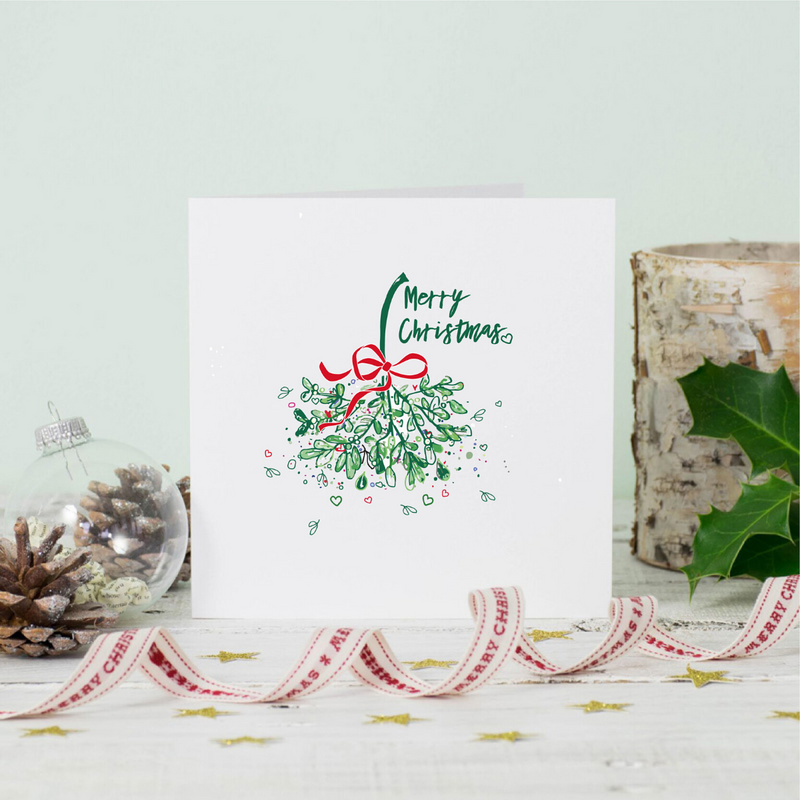 Christmas Mistletoe Love Greeting Card