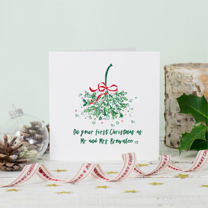 Personalised Christmas Mistletoe Love Greeting Card