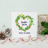 Personalised Christmas Love Wreath Greeting Card