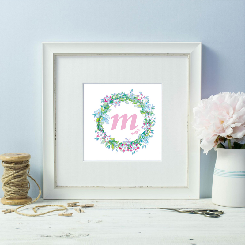 Initial Sandy Lane Wreath Framed Print