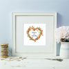 Sandy Lane Heart Wreath Framed Print