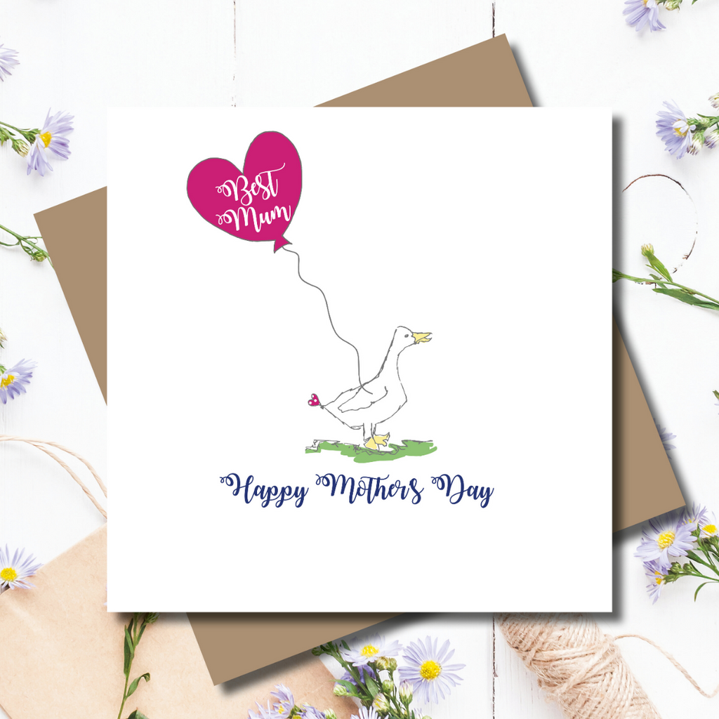 Ditsy Duck Mother's Day Greeting Card