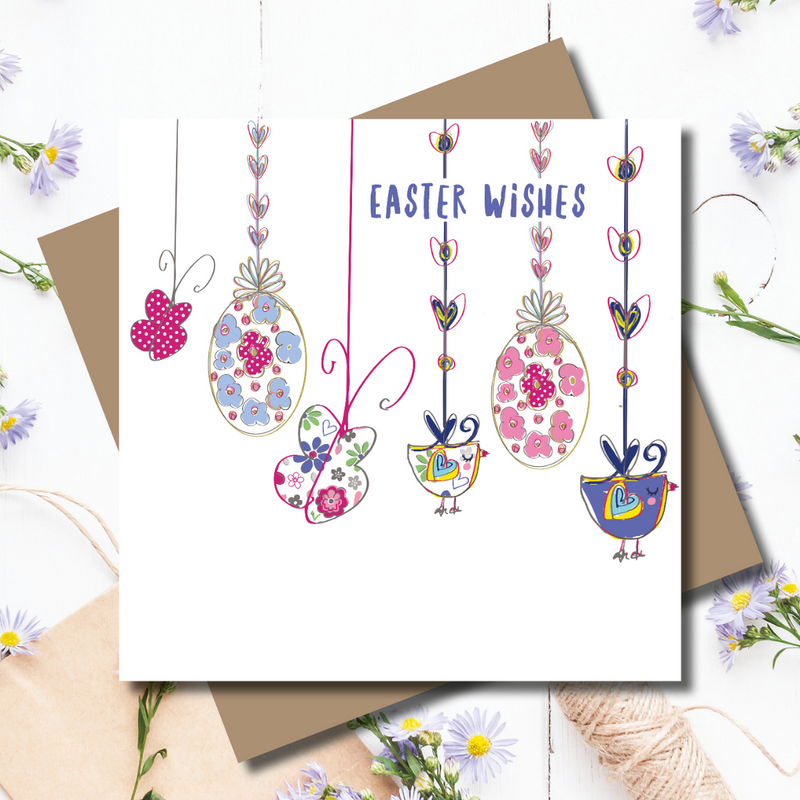 Easter Bunting Wishes Greeting Card