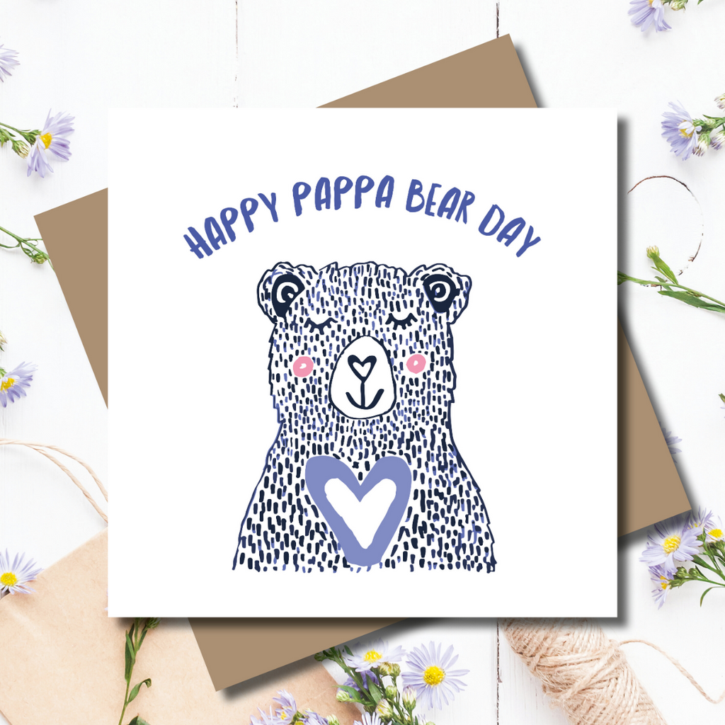 Pappa Bear Father's Day Greeting Card