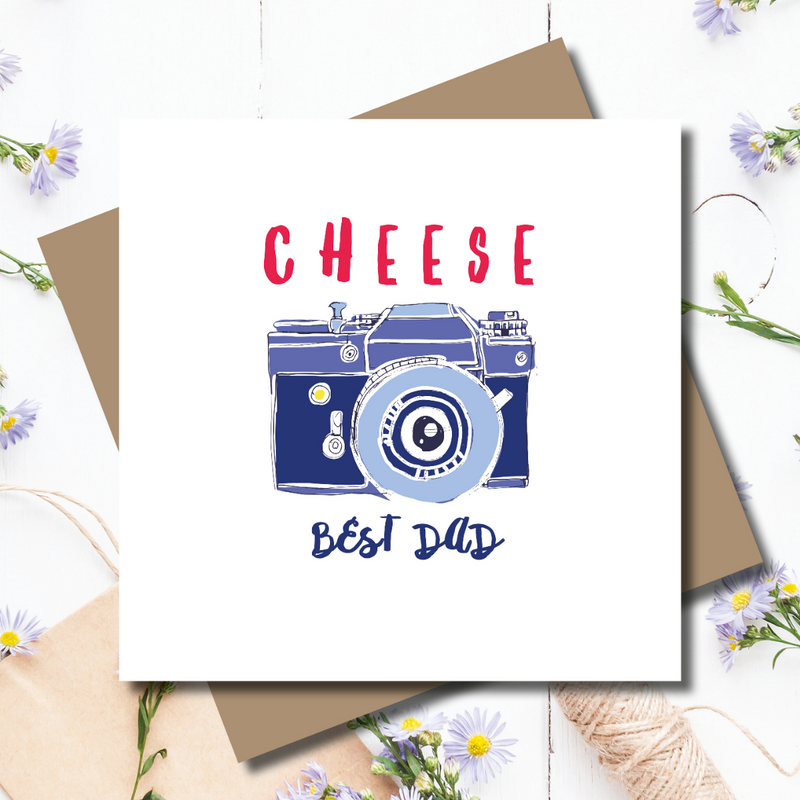 CHEESE! Camera Best Dad Father's Day Greeting Card