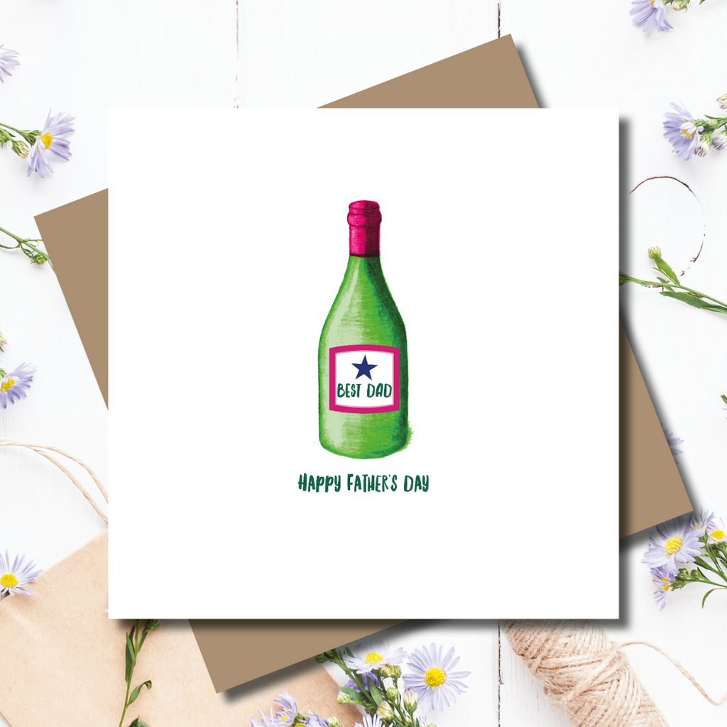Vino Time Best Dad Father's Day Greeting Card