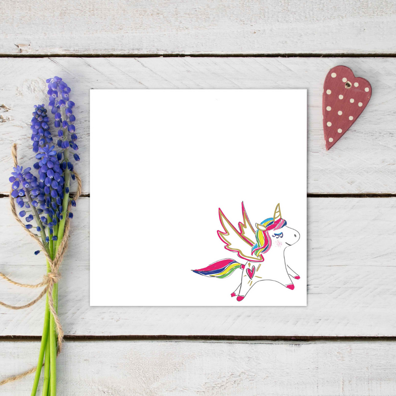 Magical Unicorn Love Notecard Stationery