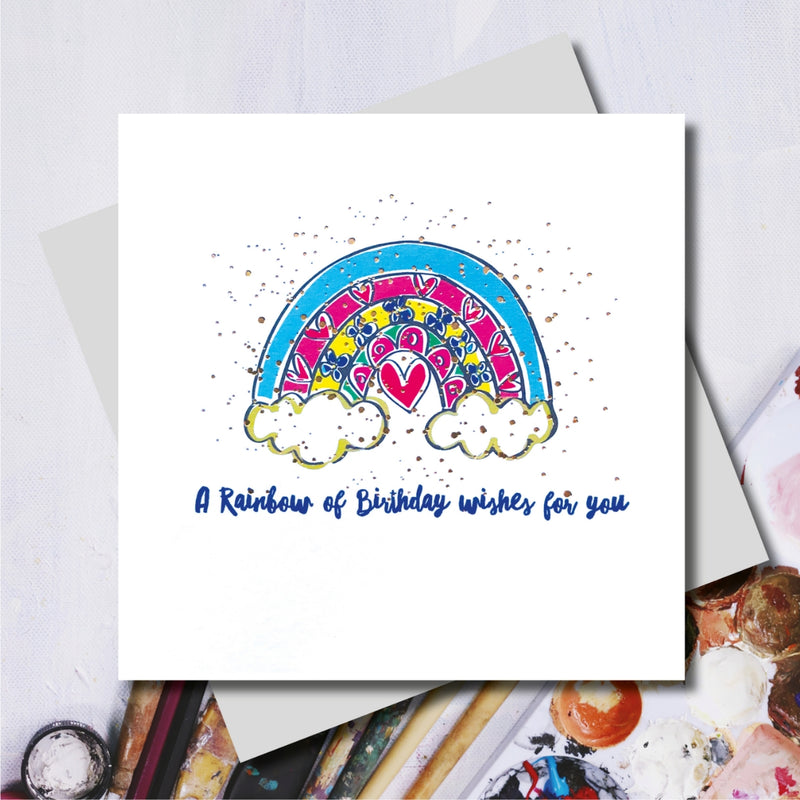 Happy Birthday Rainbow Foiled Greeting Card
