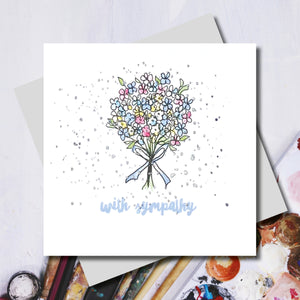 Sympathy Flowers Greeting Card