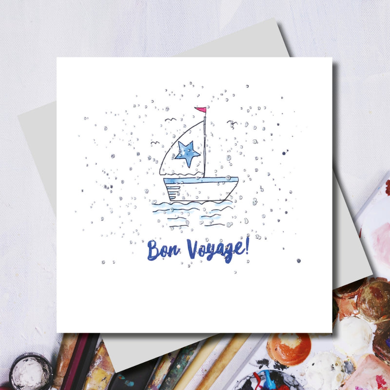 Lucy Bon Voyage Boat Greeting Card