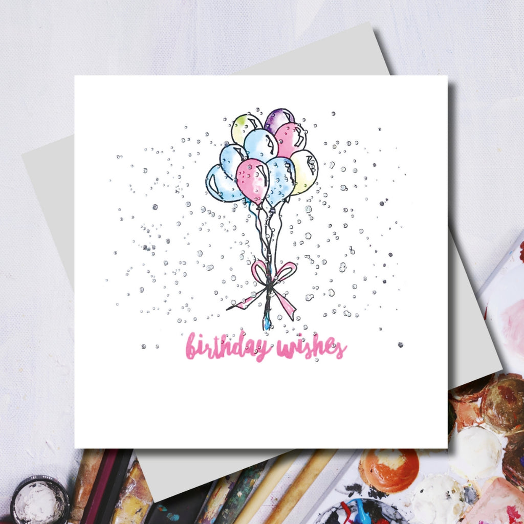 Lucy Birthday Balloons Greeting Card