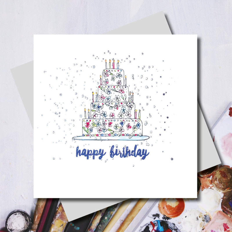 Lucy Happy Birthday Cake Greeting Card