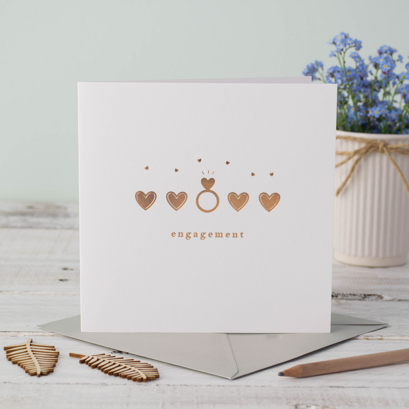 Engagement Ring Shimmer Greeting Card