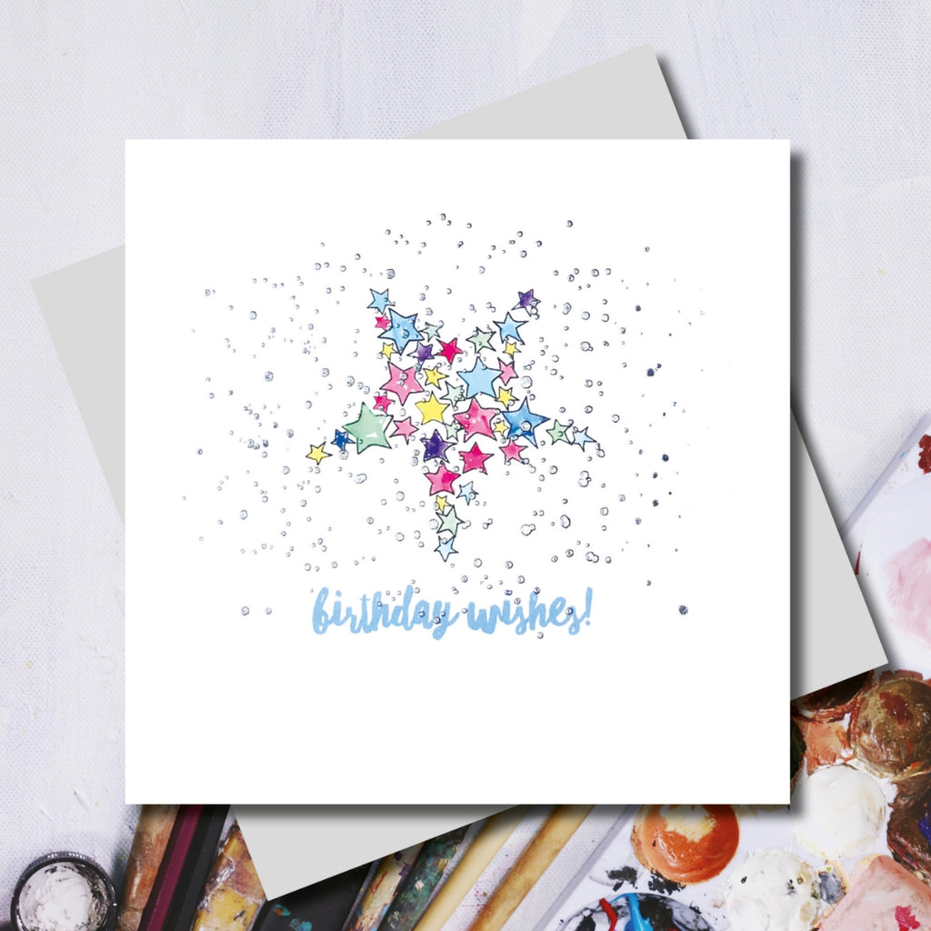 Birthday Wishes Star Greeting Card