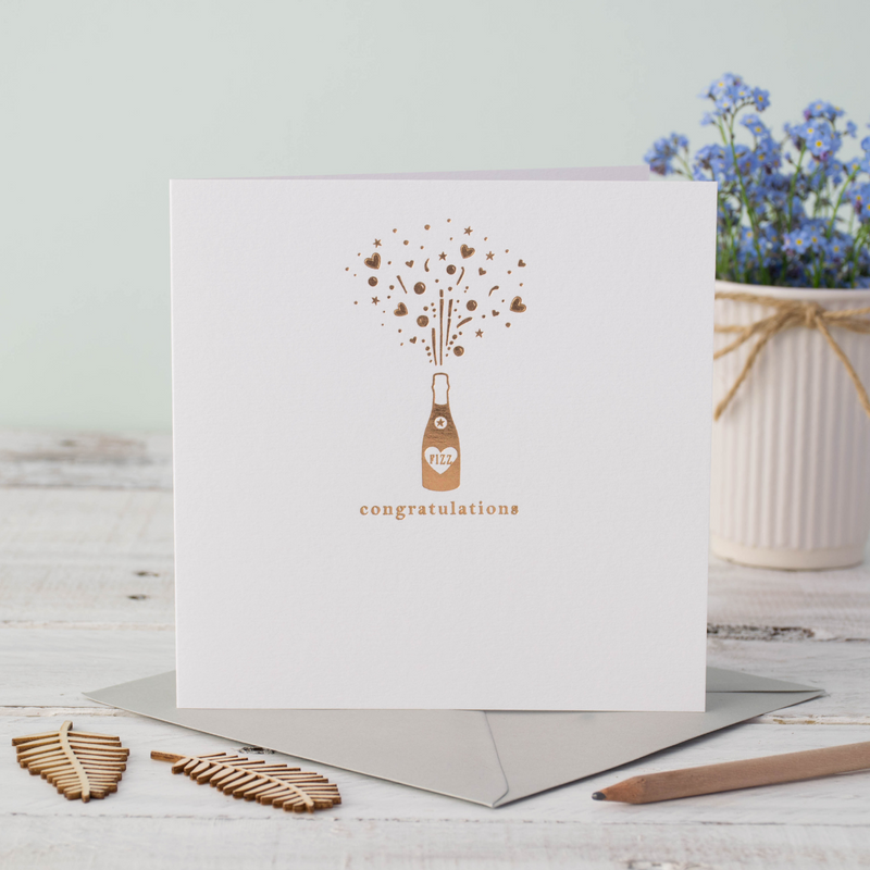 Congratulations Champagne Bottle Greeting Card