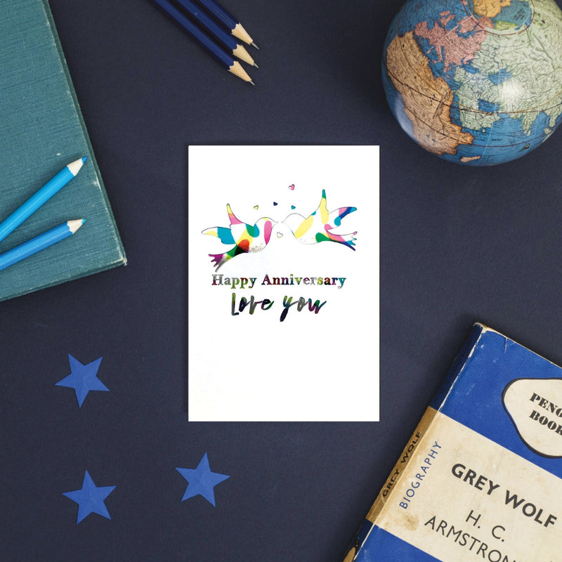 Rainbow Anniversary Love You Greeting Card