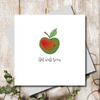 Get Well Soon Apple Greeting Card