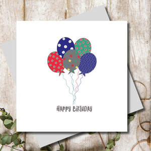 Jazz Happy Birthday Balloons Greeting Card