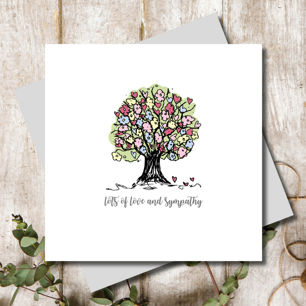 Love and Sympathy Tree Greeting Card