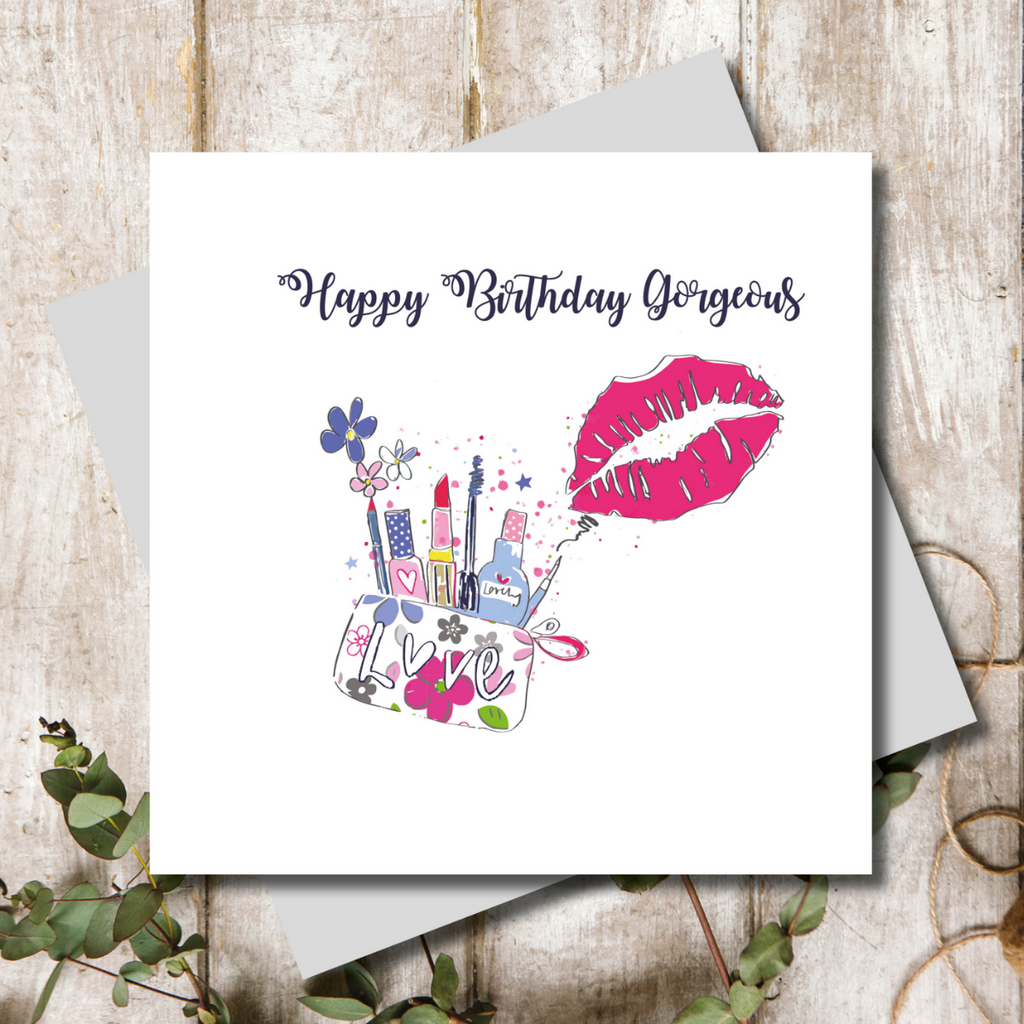 Happy Birthday Gorgeous Lips Greeting Card
