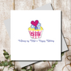 Bestie Cupcake Birthday Greeting Card