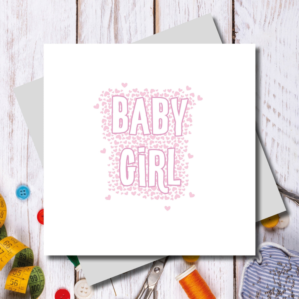 Newborn Baby Girl Greeting Card