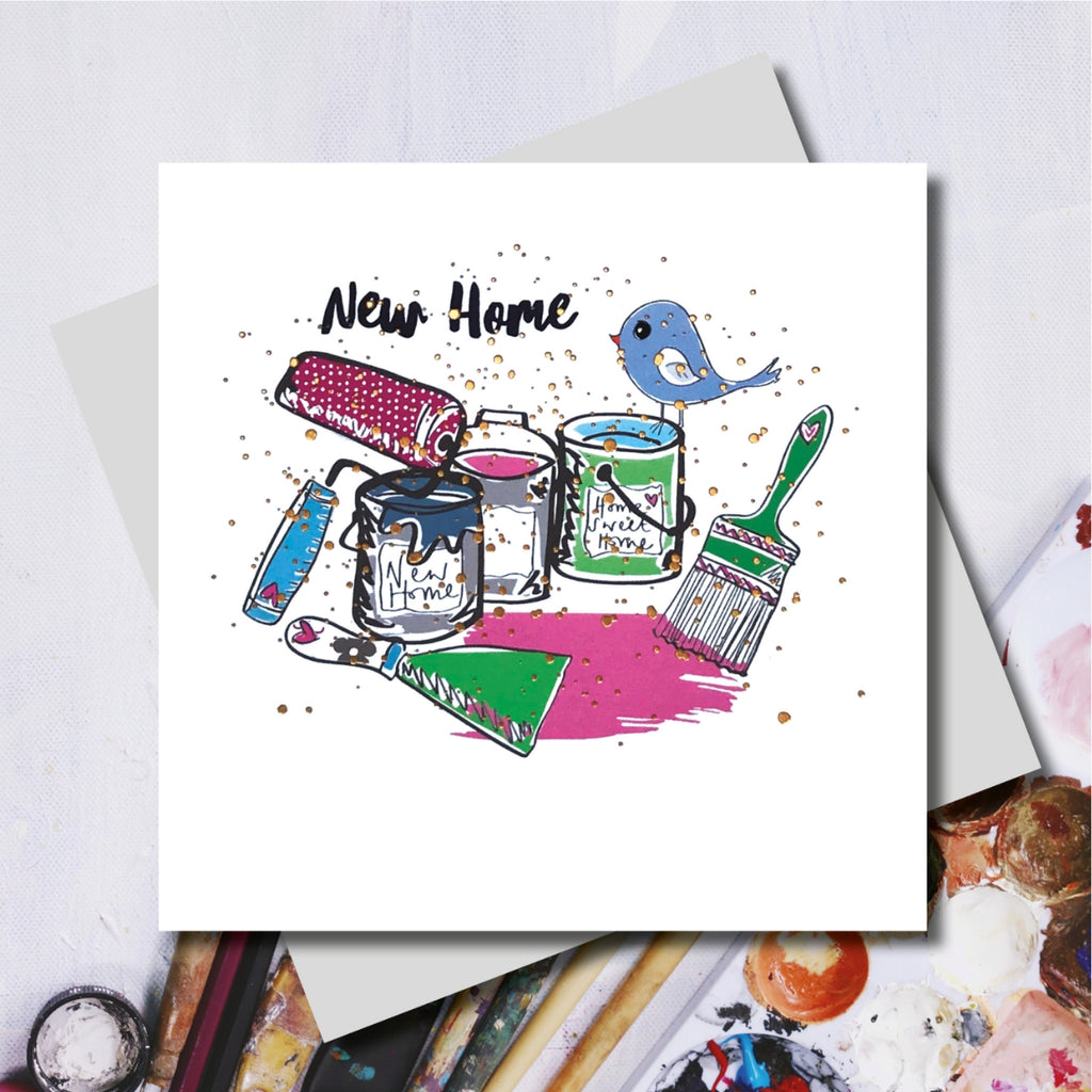 New Home Decorator Foiled Greeting Card