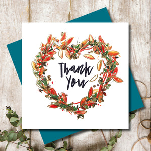 Thank You Wreath Greeting Card